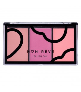 Mon Reve BLUSH ON Trio plum 03