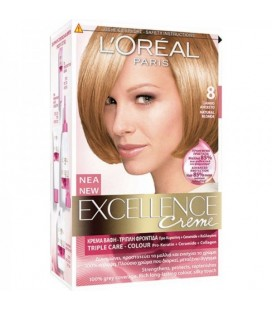 Excellence Loreal Creme N8 Ξανθό ανοικτό 48ml