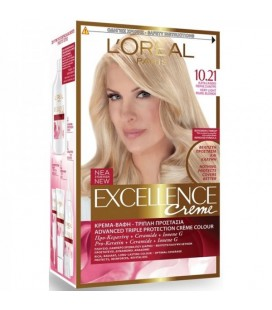 Excellence Loreal Creme N10.21 Κατάξανθο σαντρέ περλέ 48ml