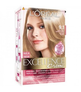Excellence Loreal Creme N9.1 Ξανθό πολύ ανοιχτό σαντρέ  48ml