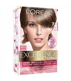 Excellence Loreal Creme N7.1 Ξανθό σαντρέ  48ml