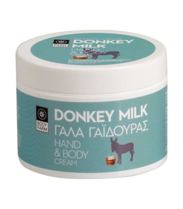 Body farm donkey milk hand & body cream 200ml