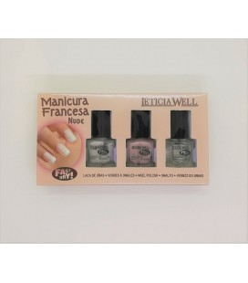 Leticia Well french manicure set nude dry fast 3 τεμαχίων